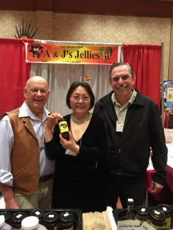 Image of Al and Jane Smoake of A&J Jellies with Willis Fedio