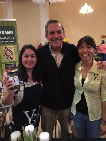 Image of Angie Rodruguez and Maria Gamboa from Valley Gurlz with Dr. Fedio