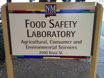 Image of Food Safety Lab sign