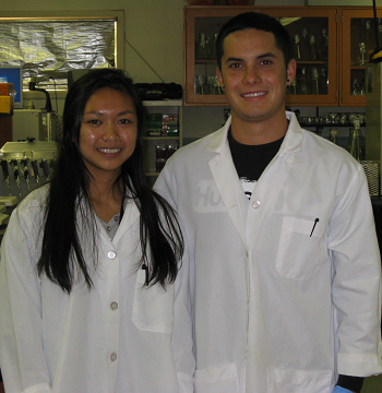 Image of former students Marianne Fortanzela and Nick Sandoval