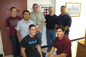 Image of staff of NMSU Food Safety Laboratory