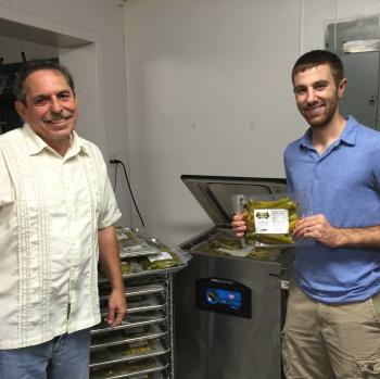 Image of Preston Mitchell from Hatch Chile Store with Dr. Fedio